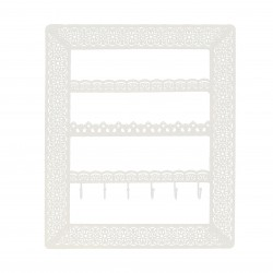 Flora Wall Jewellery Holder (White)