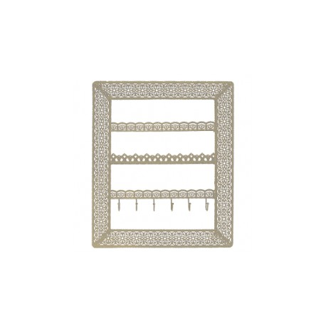 Flora Wall Jewellery Holder With Hooks (Gold)