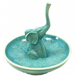 Green Little Elephant Ring Holder