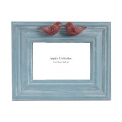 Bird Photo Frame Blue (6x4)