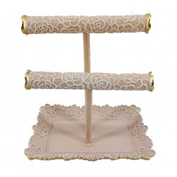 Lace Jewellery Holder (Pink)