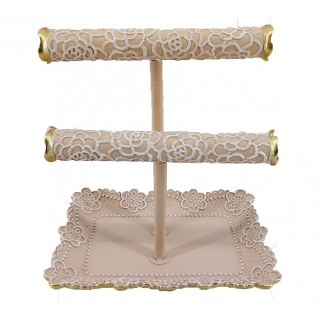Lace Jewellery Holder-Pink