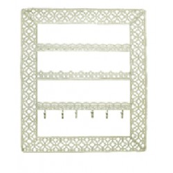 Chic Wall Jewellery Holder (White)