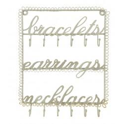 Bracelets,Necklace,Earing Jewellery Holder-Gold
