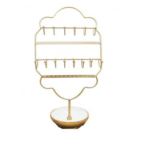 Victorian Jewellery Holder (White)