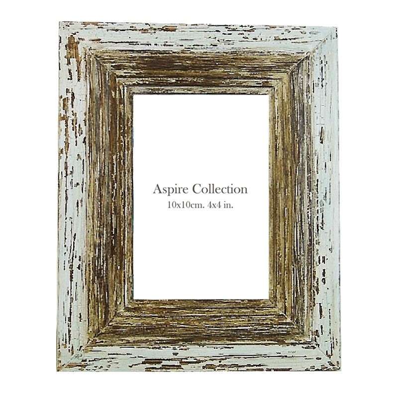 Wash White Wooden Photo Frame 4x6 Aspire Collection Australia