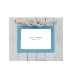 Light Blue & Rope Photo Frame (6x4)