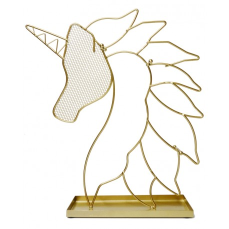 Gold Unicorn Jewellery Holder