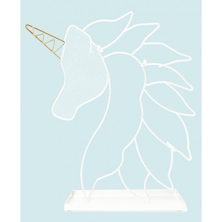 White Unicorn Jewellery Holder