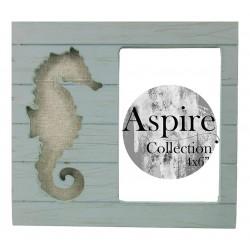 Seahorse Photo Frame Blue (4x6)