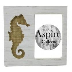 Seahorse Photo Frame White (4x6)