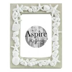 Seashell Photo Frame White (5x7)