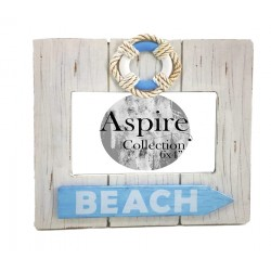 Beach Photo Frame White (6x4)