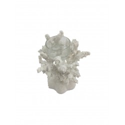 Coral Candle Holder (White)