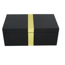 Black Jewellery Box with Gold strip