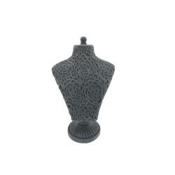 Grey Flower Model Jewellery Holder