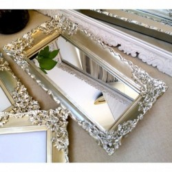 Ornate Mirror Tray Champagne
