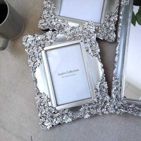 Ornate Photo Frame Silver (4x6)