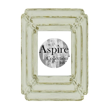 Wash White Photo Frame (4x6) - Aspire Collection
