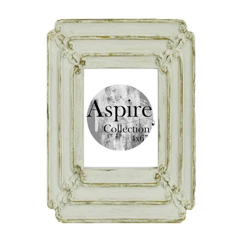 wash white photo frame 4x6 aspire collection