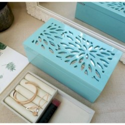 Flower Turquoise Jewellery Box