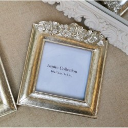 Flower Photo Frame Champagne (4x4)