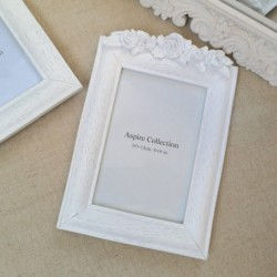 Flower Photo Frame White (4x6)