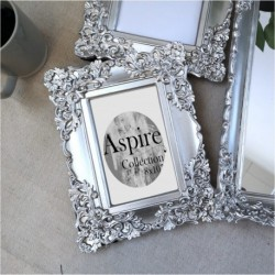 Ornate Photo Frame Silver (8x10)