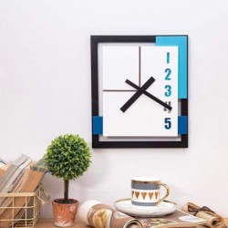 Minimalist Wall Clock-Black Blue