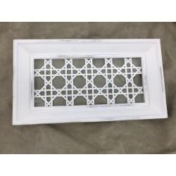 White Basket weave Tray