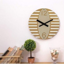 Oval Wall Clock-Gold