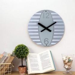 Oval Wall Clock-Grey