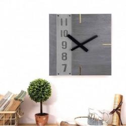 Square Wall Clock-Grey