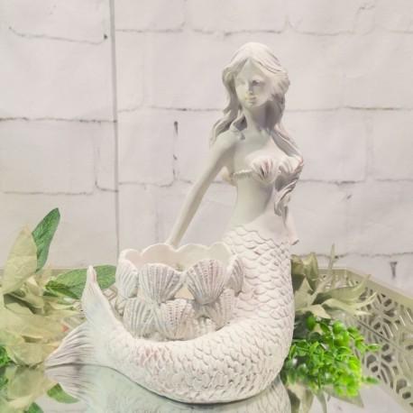 Mermaid Candle Holder (Ivory)