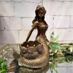 Mermaid Candle Holder (Bronze)