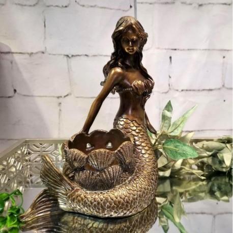 Mermaid Candle Holder (Bronze)