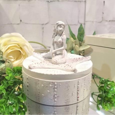 Mermaid & Star Fish Box (Ivory)
