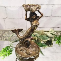 Mermaid Holding a Shell (Bronze)