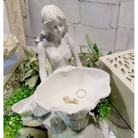 Mermaid & Seashell Trinket Tray (Ivory)