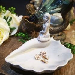 Mermaid & Spiral Shell Tray (Ivory)