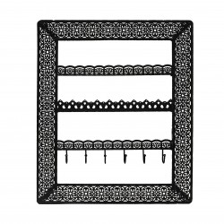 Flora Wall Jewellery Holder (Black)
