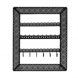 Flora Wall Jewellery Holder (Black)